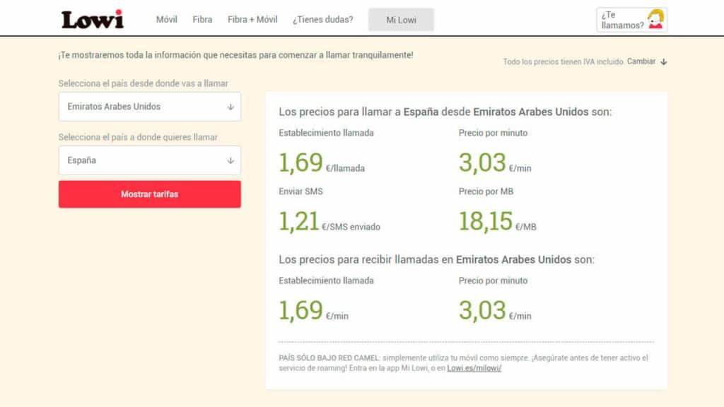 roaming emiratos arabes