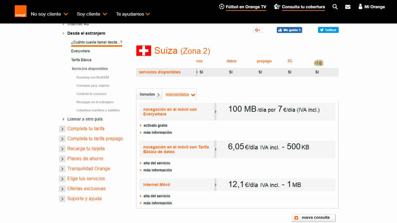 roaming suiza orange