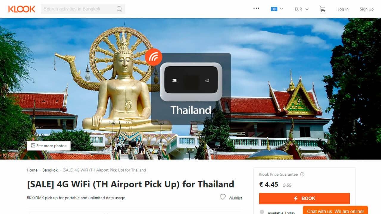 roaming tailandia pocket wifi