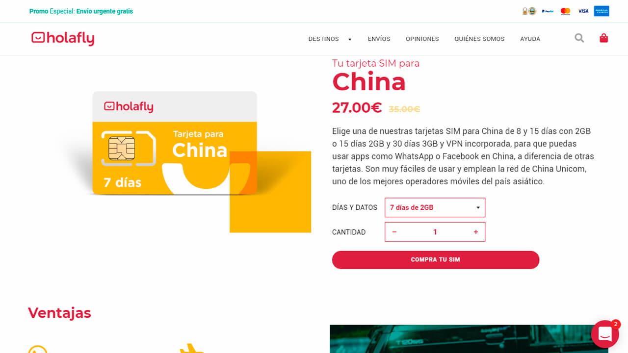 roaming china con holafly