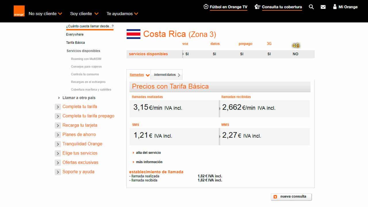 roaming costa rica con orange