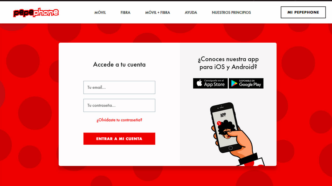 roaming pepephone acceso a zona clientes